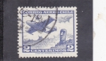 Sellos del Mundo : America : Chile : avión y mohai