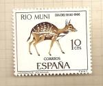 Stamps Spain -  Rio Muni-Día del Sello 1966