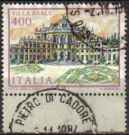 Stamps Italy -  ITALIA 1984 Scott 1608 Sello Villas Famosas Villa Reale Stupinigi Michel 1900 Usado