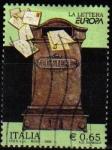 Stamps Italy -  ITALIA 2008 Sello Europa las Cartas Buzón de Correos Usado