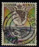 Stamps Africa - Kenya -  KENYA UGANDA Sello Lago Tanganyika