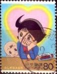 Stamps Japan -  Scott#2879a intercambio 1,00 usd 80 y. 2004