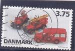 Stamps : Europe : Denmark :  vehículos de bomberos