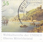 Stamps Germany -  paisaje fluvial