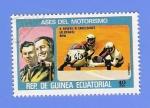 Sellos de Africa - Guinea Ecuatorial -  ASES DEL  MOTORISMO