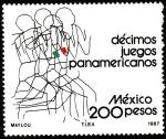 Stamps Mexico -  Décimos Juegos Panamericános