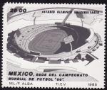 Stamps Mexico -  Sede del Campeonato Mundial de Futbol
