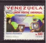 Stamps Venezuela -  U.P.U. 125 aniversario