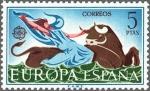 Sellos de Europa - España -  ESPAÑA 1966 1748 Sello Nuevo Serie Europa El rapto de Europa por Zeus