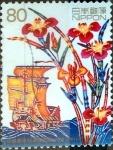 Stamps Japan -  Scott#2817 intercambio 0,95 usd 80 y. 2002