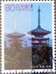 Sellos de Asia - Japón -  Scott#2821f intercambio 1,40 usd 80 y. 2002