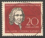 Stamps : Europe : Germany :  350 - Charles de Linné