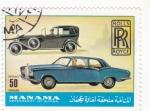Stamps : Asia : Bahrain :  coche de época Rolls Royce