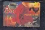 Sellos del Mundo : Europa : Holanda : FLOR Y COPAS DE VINO