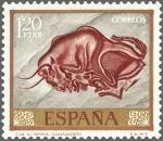 Stamps Spain -  ESPAÑA 1967 1782 Sello Nuevo Dia del Sello Homenaje al Pintor Desconocido Cueva Altamira Santander