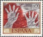Stamps Spain -  ESPAÑA 1967 1783 Sello Nuevo Dia del Sello Homenaje al Pintor Desconocido Cueva Castillo Santander