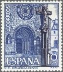 Sellos de Europa - España -  ESPAÑA 1967 1802 Sello Nuevo Turismo Iglesia Sta. Mª do Azougue Betanzos Coruña
