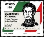 Stamps Mexico -  Primer Presidente de la República