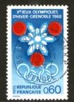 Sellos del Mundo : Europa : Francia : JJ.OO. de invierno en Grenoble