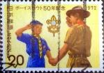 Sellos del Mundo : Asia : Japón : Scott#1130 intercambio, 0,20 usd 20 y, 1972