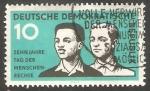 Stamps : Europe : Germany :  384 - X Anivº de la Declaración universal de los Derechos del Hombre