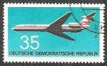 Stamps : Europe : Germany :  1438 - Avión Illouchine IL-62