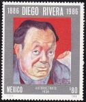 Sellos de America - México -  DIEGO RIVERA -Autorretrato