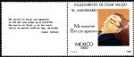 Stamps Mexico -  Fallecimiento de César Vallejo