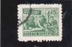 Stamps Poland -  obreros de la construcción