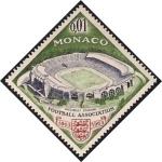Sellos del Mundo : Europa : Mónaco :  Estadio de Wembley y Emblema de la Asociación de Fútbol Británica