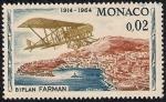 Stamps Europe - Monaco -  Biplano Farman en Mónaco