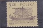 Sellos de Europa - Polonia -  embarcación medieval egipcia