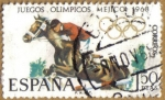 Stamps Spain -  XIX JJOO. Mexico - Hipica