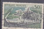 Stamps France -  población de Cognac