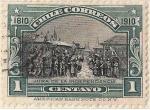 """Stamps of the world : Chile :  JURA DE LA INDEPENDENCIA / 1910 """"CENTENARIO DE LA INDEPENDENCIA NACIONAL"""""""
