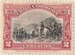 "Stamps of the world : Chile :  BATALLA DE CHACABUCO / 1910 ""CENTENARIO DE LA INDEPENDENCIA NACIONAL"""