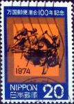 sellos de Asia - Japón -  Scott#1184 intercambio, 0,20 usd 20 y, 1974
