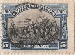"Stamps America - Chile -  ABRAZO DE MAIPU / 1910 ""CENTENARIO DE LA INDEPENDENCIA NACIONAL"""