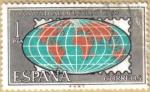 Stamps Spain -  Dia del Sello - Mapa Mundi