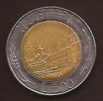monedas del Mundo : Europa : Italia :  Plaza del Quirinale  500 Liras anverso