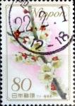 Stamps Japan -  Scott#3087 intercambio, 0,55 usd 80 y. 2008
