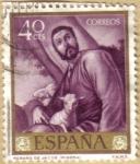 Stamps Spain -  Jose de Rivera 'EL ESPAÑOLETO' Rebaño de Jacob
