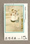 Stamps North Korea -  Demostración técnica
