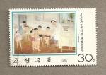 Sellos del Mundo : Asia : Corea_del_norte : Examen médico en la escuela infantil