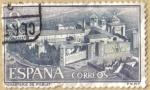Stamps Spain -  Monasterio de Santa Maria de Poblet, Vista general