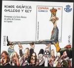 Stamps : Europe : Spain :  5060- Humor Gráfico. Homenaje a la serie básica de sellos de Correos de España.Gallego y Rey.