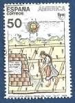 Stamps Europe - Spain -  Edifil 3035 Agricultura incaica 50