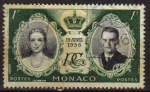 Stamps Europe - Monaco -  MONACO 1956 Sello 19 Abril 1956 Boda de Grace Kelly y el Principe Rainiero III