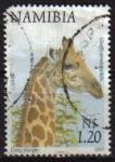 Sellos del Mundo : Africa : Namibia : NAMIBIA 1997 Sello Serie Animales Jirafa Usado