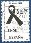 Sellos del Mundo : Europa : España : Edifil 4073 Día europeo de la víctimas del terrorismo (lazo negro 11-M) 0,27